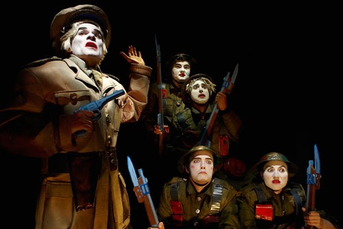 From The Great War with Richard Clarkin, Dylan Roberts, Anand Rajaram, Mac Fyfe and Kerry Ann Doherty by Michael CooperDoherty. Photo by Michael Cooper